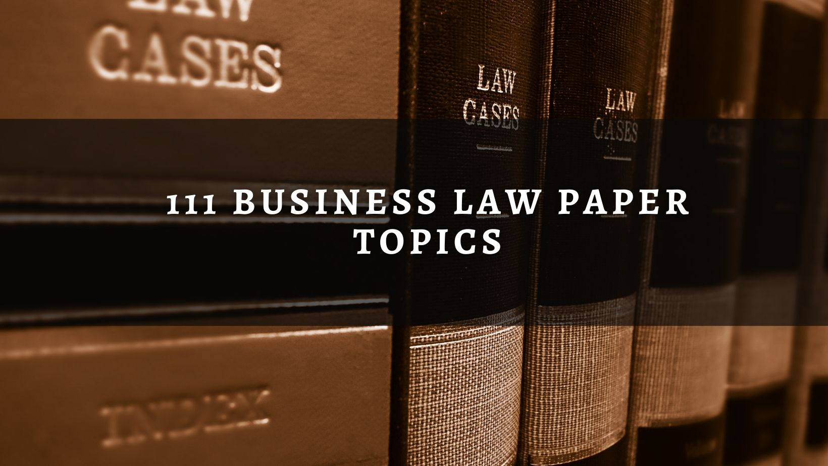 Business Law Paper Topics